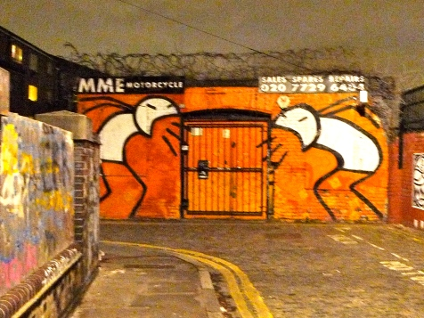 Grimsby St E2 with Stik artwork
