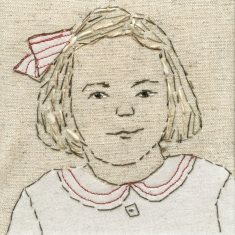 Study of a Girl with a Striped Bow